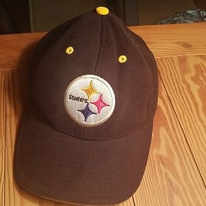 Pittsburgh Steelers Football Velcro Strap Hat